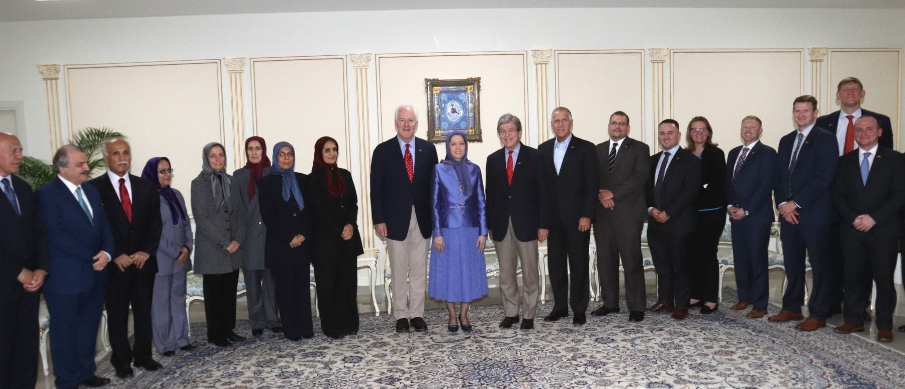Ms. Maryam Rajavi met with Senior U.S. Senate members in Albania to discuss the current situation in Iran and the Middle East.