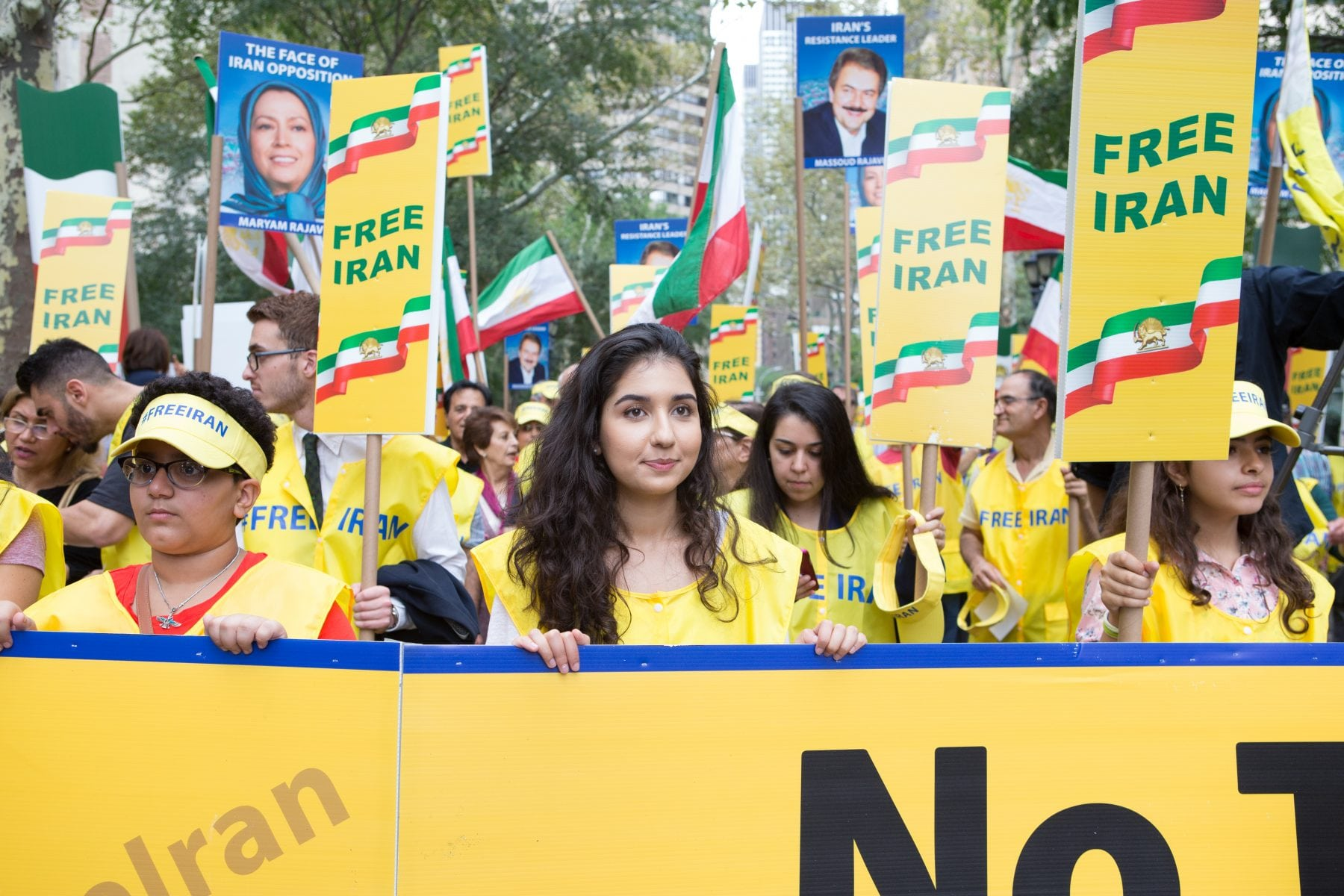 Protesting for a Free Iran at the UN